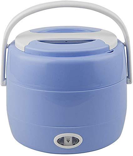 Mini Rice Cooker Multifunctioned Chauffage électrique électrique Boîte à lunch Portable Steamer Chauffage électrique Egg Cooker, Rose jszzz (Color : Blue)