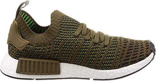 adidas Herren NMD_R1 STLT Primeknit Sneaker, Grün (Trace Olive/Core Black/Solar Slime 0), 42 2/3 EU