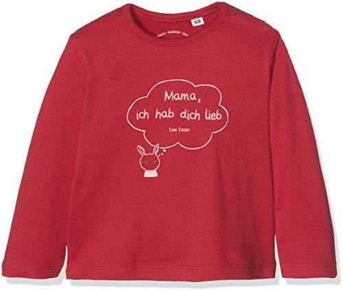 TOM TAILOR Kids TOM TAILOR Kids Baby-Mädchen 1/1 T-Shirt, Rot (Crimson Red 2034), 86