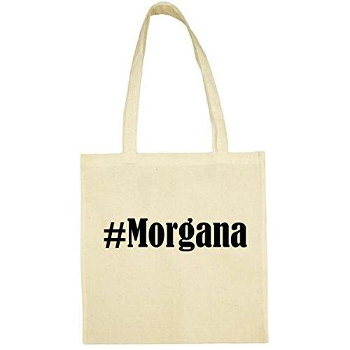 Tasche #Morgana Größe 38x42 Farbe Natur Druck Schwarz