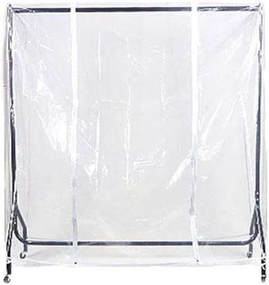 BMBN Raleigh Mall Clothes Cover Max 74% OFF Clear Rail Dustproof Zip Waterproof