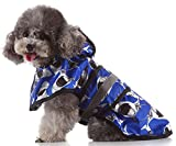 MaruPet Adjustable Small to Large Dog Waterproof Raincoat Lightweight Rain Jacket Poncho with Strip Reflective for Teddy, Pug, Chihuahua, Shih Tzu, Golden Retriever, Husky, Samoye Shark 2XL
