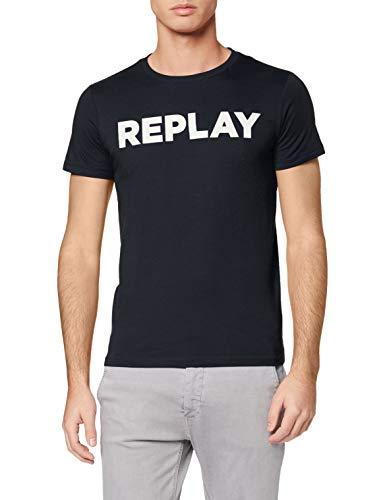 Replay Herren M3594 .000.2660 T-Shirt, Blau (Midnight Blue. 576), X-Small (Herstellergröße: XS)