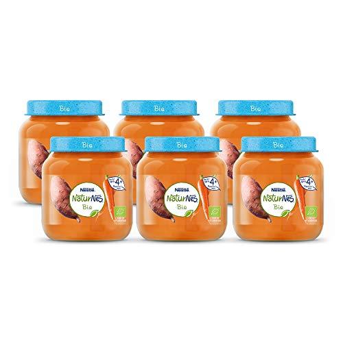 Naturnes Bio Zoete Aardappel, Wortel 4+ maanden babymaaltijd - 6 potjes van 190 gram