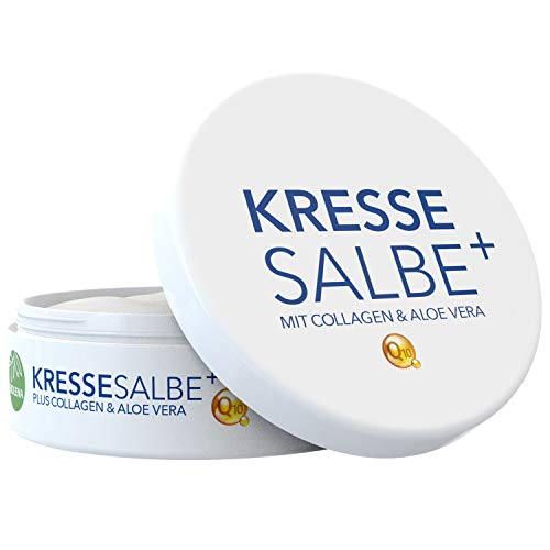 Biolena Kressesalbe Plus – Gesichtscreme/Altersflecken Creme (1 Tiegel je 100 ml) – Anti Falten Creme Kresse Salbe Kresse Creme Kresse Salbe Gesicht