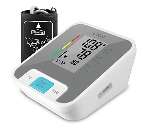 Blood Pressure Monitor, Accurate Automatic Upper Arm Bp Machine Pulse Rate Monitoring Meter with Device Bag, 22-44cm Cuff Size, 2-User, 240 Reading Memory, Voice Announce