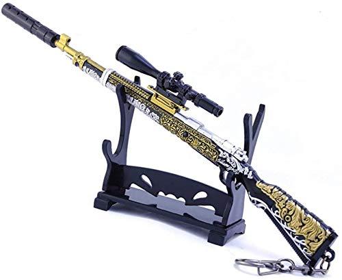 Llavero creativo de metal Juego Pistola Modelo 98K Sniper Rifle Diferente Piel Modelo Llavero Juego de pistolera Modelo Metal, Visión, Silenciador, Suministros de fiesta Regalo creativo ( Color : B )