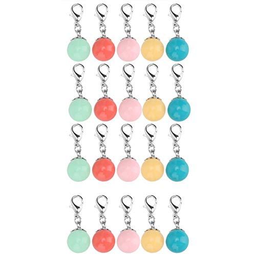 Colgante de pulsera con colgante de cuentas de 20 piezas, para hacer joyas de bricolaje