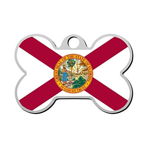 Lisa Cave Flag Florida Dog and Cat Tag Pet ID Print Personalized Custom Name Zinc Alloy