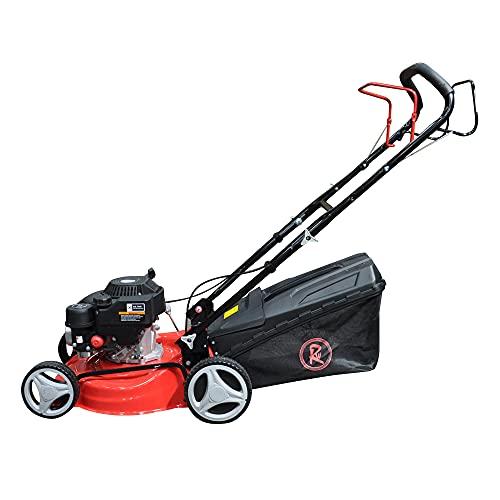 RocwooD Petrol Lawnmower SELF PROPELLED 132cc 17' Mower Plus FREE Oil
