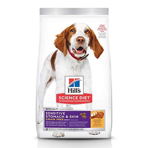 Grain Free Dry Dog Food by Hill's Science Diet, Adult, Sensitive Stomach & Skin, Chicken & Potato Recipe, 24 Lb Bag