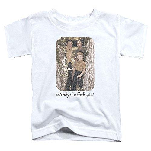 Andy Griffith - - Les tout-petits de photo d'arbre T-shirt, 4T, White