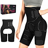 Plus Size Sweat Band Waist Trainer for Women, 3 in 1 High Waist Butt Lifter Thigh Trimmer Full Body Shaper Stomach Belt to Lose Belly Fat, 2020 Upgraded with Carry Bag, Gifts for Women Black
