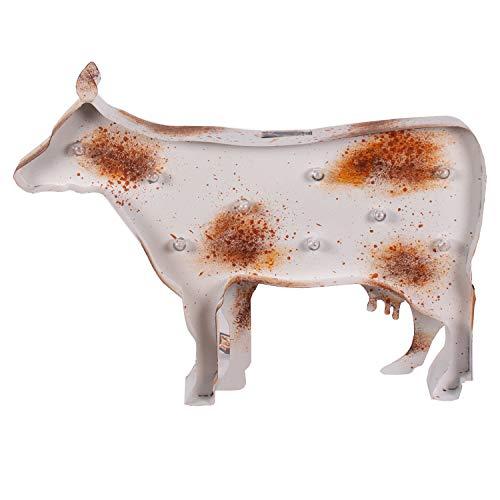 Solar Powered La Hacienda Outdoor Garden Animal Ornaments (Cow)