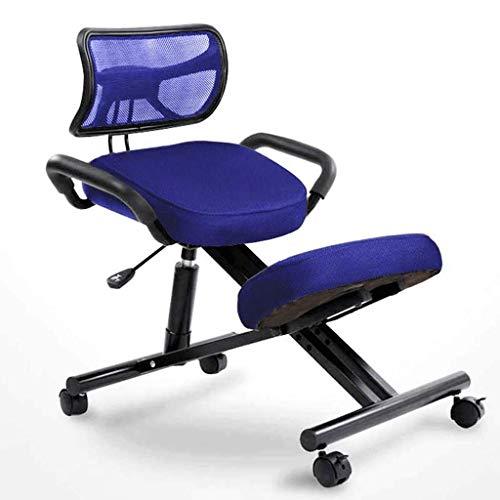 YQTXDS Silla, sillón Silla ergonómica para arrodillarse Corrección para Adultos Postura sentada con Respaldo Computadora giratoria Ch (Silla)
