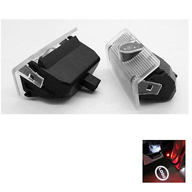 LBLI 2pcs puerta del coche de cortesía luz del proyector para mercedes benz a / b clase glk logo clase sombra del fantasma de la lámpara , Black And White yc247