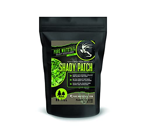 Pure Whitetail Shady Patch – Select Seed Blends – No Till Whitetail Deer Food Plot Seed All Season Attractant (5 lbs)