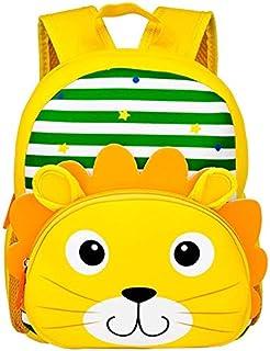 Mochila impermeable para niños de guardería, mochila para niños pequeños, mochila escolar para preescolar, guardería, escuela, viajes, león (Amarillo) - EJMMKVXCSK