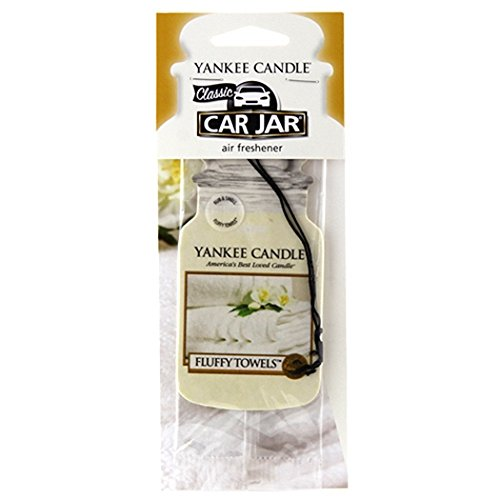 Yankee Candle Car Jar Single Fluffy Towels, Autoduft, Duft Aufhänger, Raum Erfrischer, 1207596