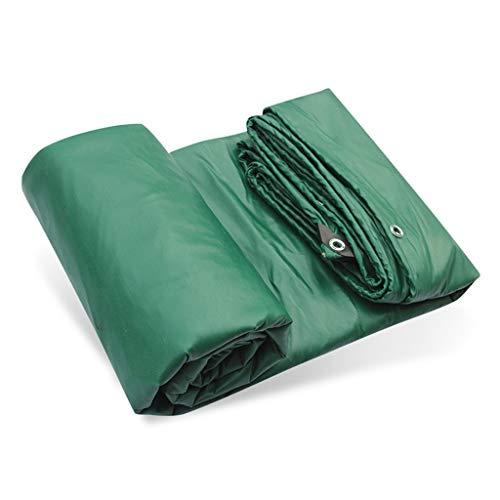 HG Tarps zonnezeil zwaar zeil met oogjes waterdicht PVC-zeil schaduw kunststof tent luifel gronddoek afdekking 500 g/vierkant, groen