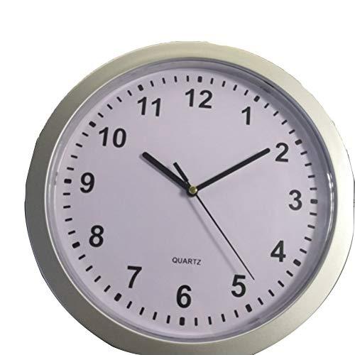 QiKun-Home Novedad única, Dinero, joyería, contenedor de Almacenamiento, Caja de Almacenamiento mecánica, Reloj, ABS, Reloj de Pared, Caja Fuerte, Caja Blanca