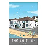 ASFGH The Ship Inn, Herne Bay Vintage Reise Poster Decor