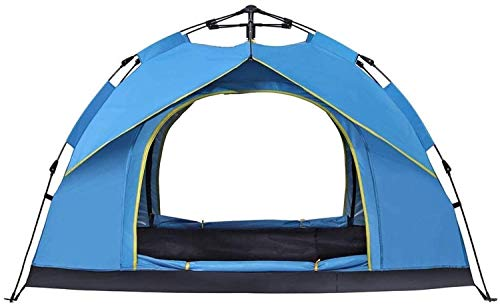 CHHD Tent for Camping 2 People Waterproof Camping Tent with Fingerprint Tarpaulin, Automatic Rain Fly Tent