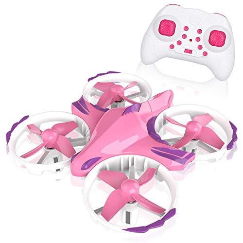YAHCQ Mini UFO Drone, UFO Drone per Bambini, Flying Ball Toys A Mano E Telecomando, UFO Droni con Rotazione A 360°E Luci LED, Regali per Bambini E Bambine,Viola