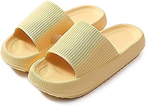 GYYlucky Pantuflas de absorción de Impactos de Fondo Grueso, Pantuflas Unisex, Pantuflas con Punta Abierta, Pantuflas para Hombres y Mujeres, (Color : Yellow, Size : Medium)