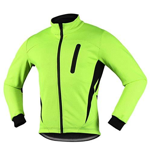 iCREAT Air Jacket winddichte waterdichte loop- fietsjas MTB mountainbike jack visible reflecterende fleece warme jas voor herfst