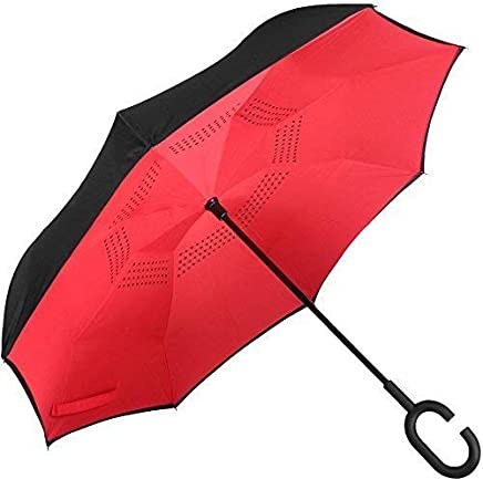 RAIN SHINE Inverted Umbrella, Umbrella Windproof, Reverse Umbrella, Umbrellas for Women with UV Protection, Upside Down Umbrella with C-Shaped Handle for Men&Women(Multi Color)