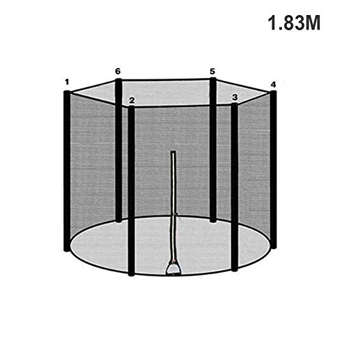 StageOnline 6ft / 8ft / 10ft / 12ft Trampoline Enclosure Durable Safe Nylon Trampoline For Kids Protection Net For Outdoor Children Injury- Prevention (net Only)