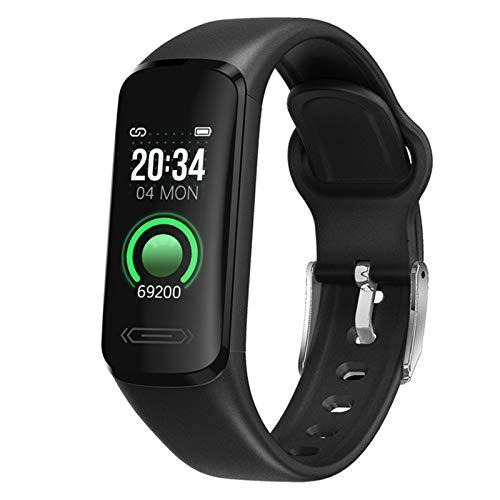 Reloj inteligente V101 para hombre y mujer, monitor de frecuencia cardíaca, podómetro, contador de calorías, IP68, impermeable, con pantalla HD de 0.96 pulgadas, regalo cálido