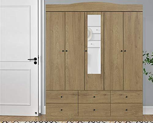MOBI Ropero 152 cm de Madera Valencia Roble Armario Closet Organizador