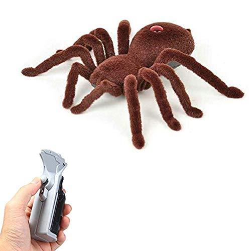 Daxoon RC Spinne Tarantel, Realistisch 17CM Ferngesteuerte Riesenspinne, RC Spinne Spielzeug Riesige Fernbedienung Spinnen Fahrzeug Auto Elektrisches Spielzeug Geschenke