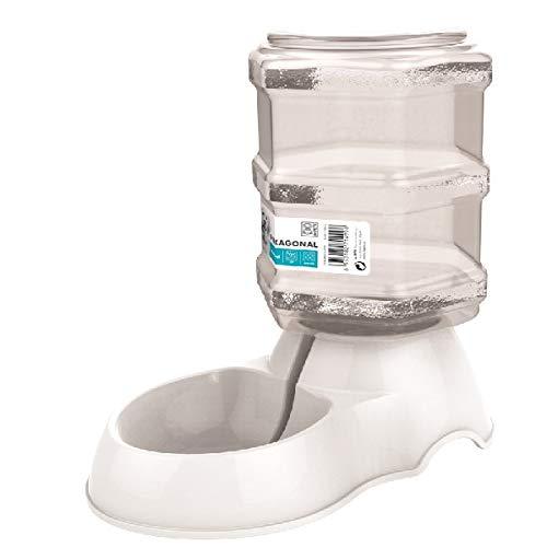 M-PETS Hexagonal Water Dispenser 3, 5l White pour Chien