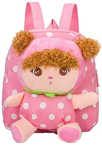 DINEGG Baby Girl Rucksack Nette plüsch Puppe Spielzeug snacktasche Reise Tasche Vorschule umhängetasche rosa Geschenk für Kinder YMMSTORY