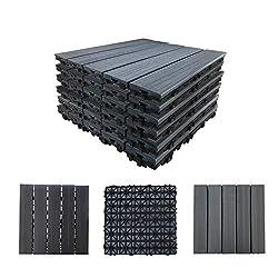 "top 10 composite decking stain Avapatio Floor Tiles Floor Slab Tiles, 12.4 ""x12.4"" Waterproof Floors or…"