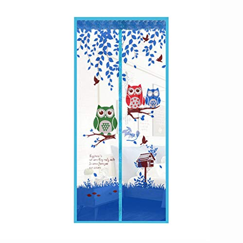 QVIVI Magnetic Fly Insect Screen Door Screen Mesh Curtain Summer Home Anti Mosquito or Anti Insect Bug Magnetic Soft Door Net Doors Curtain for Living Room Kitchen Balcony,Blue,100210cm
