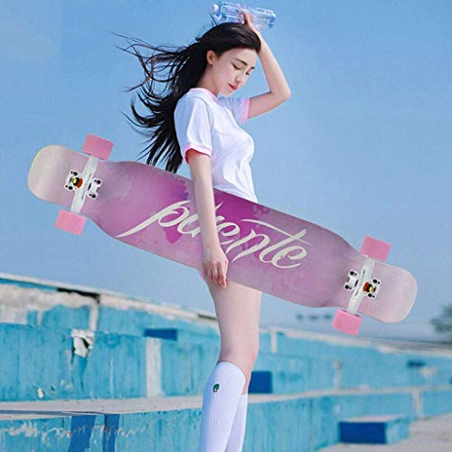 RVTYR Skateboards, Longboard Skateboard Vierrädrige Skateboard Brush Street Brett Jungen und Mädchen Anfänger All-Around-Tanz Vorstand Jugend Scooter Skateboard ninjago (Color : A)