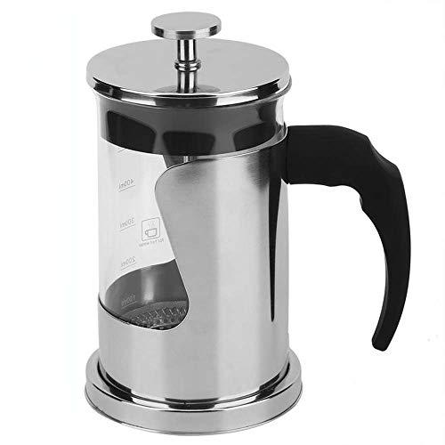 XIMULIZI 600 ml Tragbare Manuelle Französisch Pressen Topf Kaffeemaschine Filtertopf Haushaltskaffeemaschine Kaffee Teekanne Percolator Werkzeug