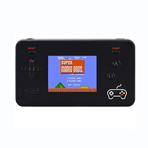 DEF 2 in 1 Gioco Portatile Console Power Bank Gameboy Portatile, 188 Giochi Classic FC integrati 5000mAh Batteria al Litio Regali da Uomo (Color : Black)