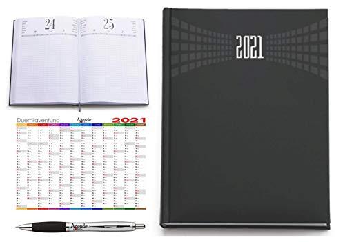 Agenda ristorante hotel prenotazioni AGENDEPOINT.IT A4 2021 giornaliera omaggio calendario annuale e penna MATRA NERA
