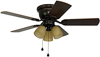 44b4e30718f Harbor Breeze Centreville 42-in Oil-Rubbed Bronze Indoor Flush Mount Ceiling  Fan with