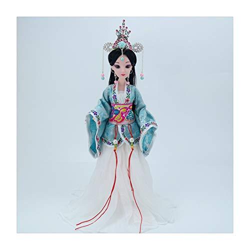 Siunwdiy Estatuilla China Vestida para la decoracin de la casa, decoracin Oriental, Mesa Decorativa con Exquisita mueca de la mueca del Pelo y Desgaste,#013