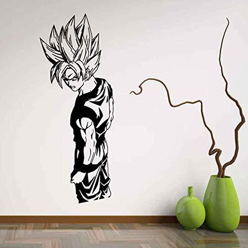 Autocollant Dragon Ball Sticker Mural Super Saiyan Goku Stickers Muraux en vinyle Dragon Ball Z, Art de mur de Dbz Anime, décoration de chambre d'autocollant d'enfants