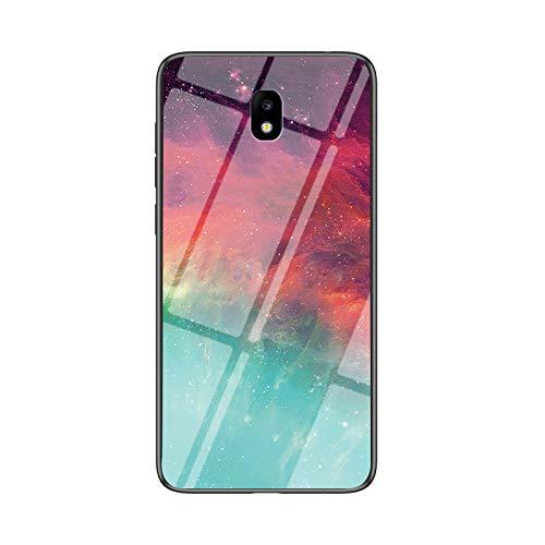 SHIEID Cover per Samsung Galaxy J5 2017 Cover,Vetro temperato Marmo Ultra Sottile Gomma Gel Trasparente scocca Anti-Scivolo Soft Shell per Samsung Galaxy J5 2017 (Colore Stellato)