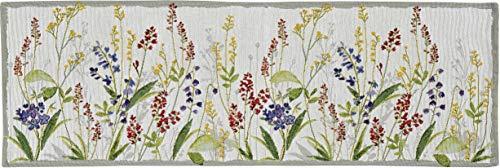 Sander Gobelin Tischläufer 32x96 cm florales Motiv Blumenwiese Blüten Blumen (Tischläufer)