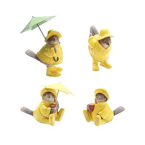 De enige goede kwaliteit Amerikaanse pastorale paraplu dragen regenjas vogel ornamenten schattige ouder-kind thuis decoratie kinderen verjaardagscadeau Zeer mooi