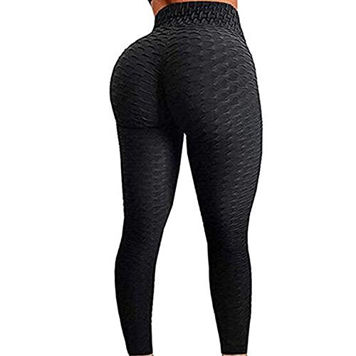 ZRDSZWZ Pantalones de yoga para mujer, fiables, suaves, para entrenamiento, fitness, con estampado de abdomen, color negro, talla XXL: